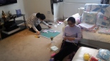 Me & Mum creating crafts for Jiya