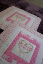 Jiya's tiny handmade quilt